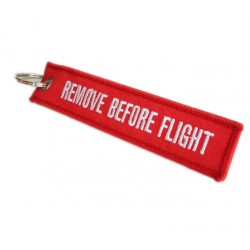 'Remove before flight' Keyring